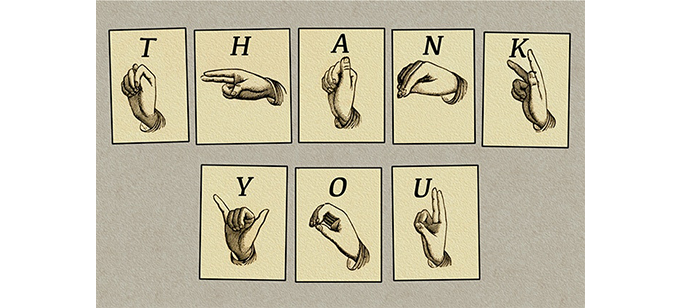 """Finger-Spelled"" Thank You, DIY DIGITAL or Printed 10 Postcard Set, Plus the INCLUDES. Pledge Reward @ $10 or @60, see listings."