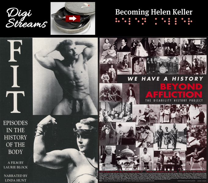 Digi Streams Becoming Helen Keller: Pledge @ $30. STEP UP -- Disability History Combo: MANY ITEMS INCLUDED--see descriptions,  your choice DVD, CD, or Stream, Pledge is $150.