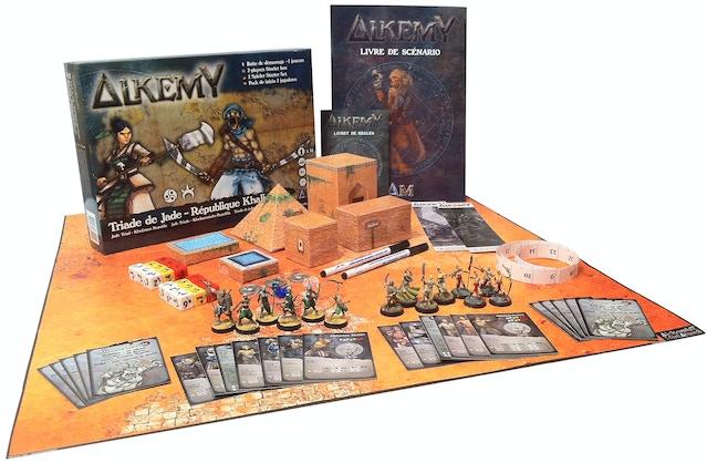 boîte de démarrage 2 joueurs du jeu de figurines alkemy