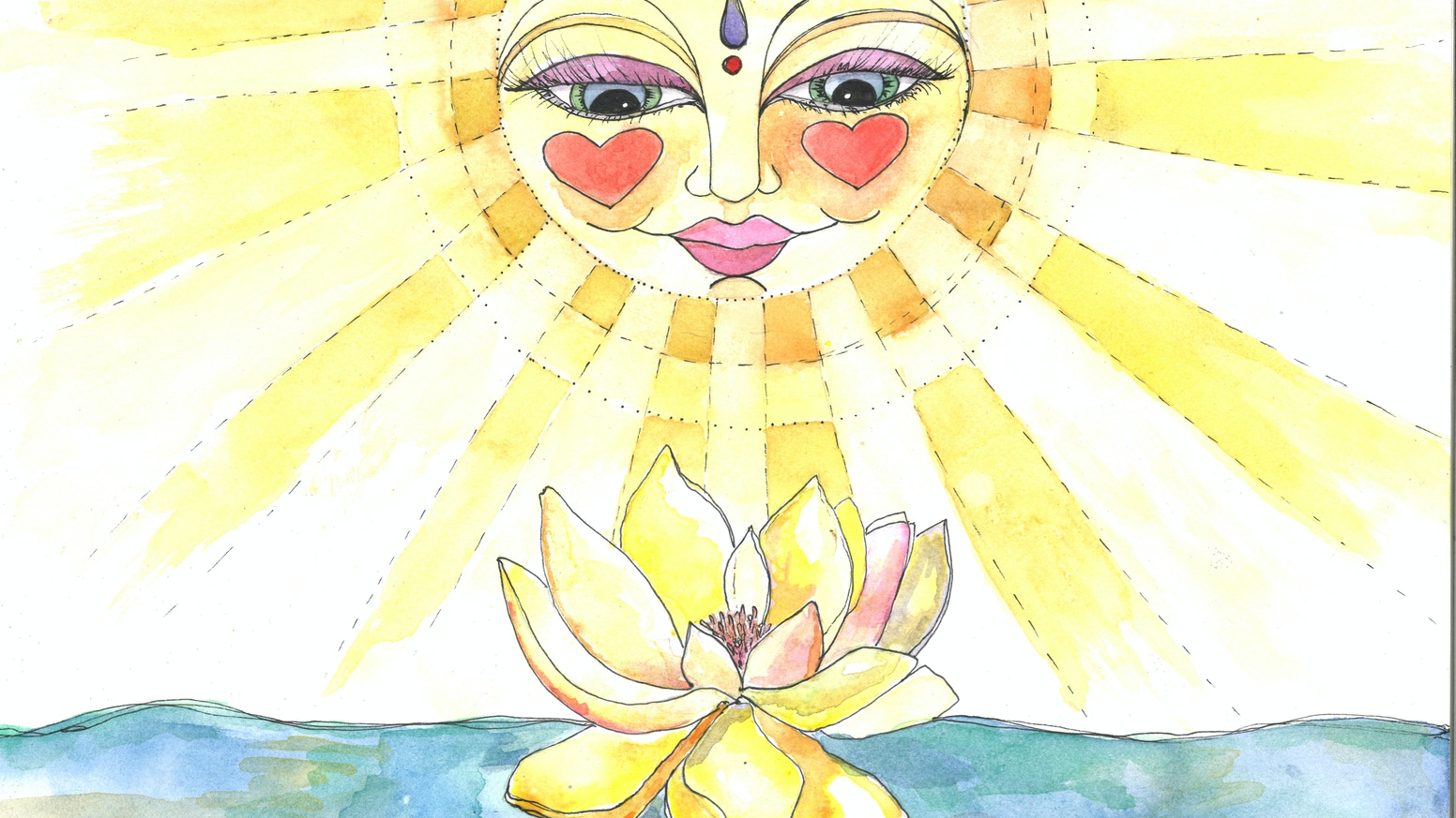 Yellow Lotus Flower By Jen Myzel A Song For My First 100 Backers