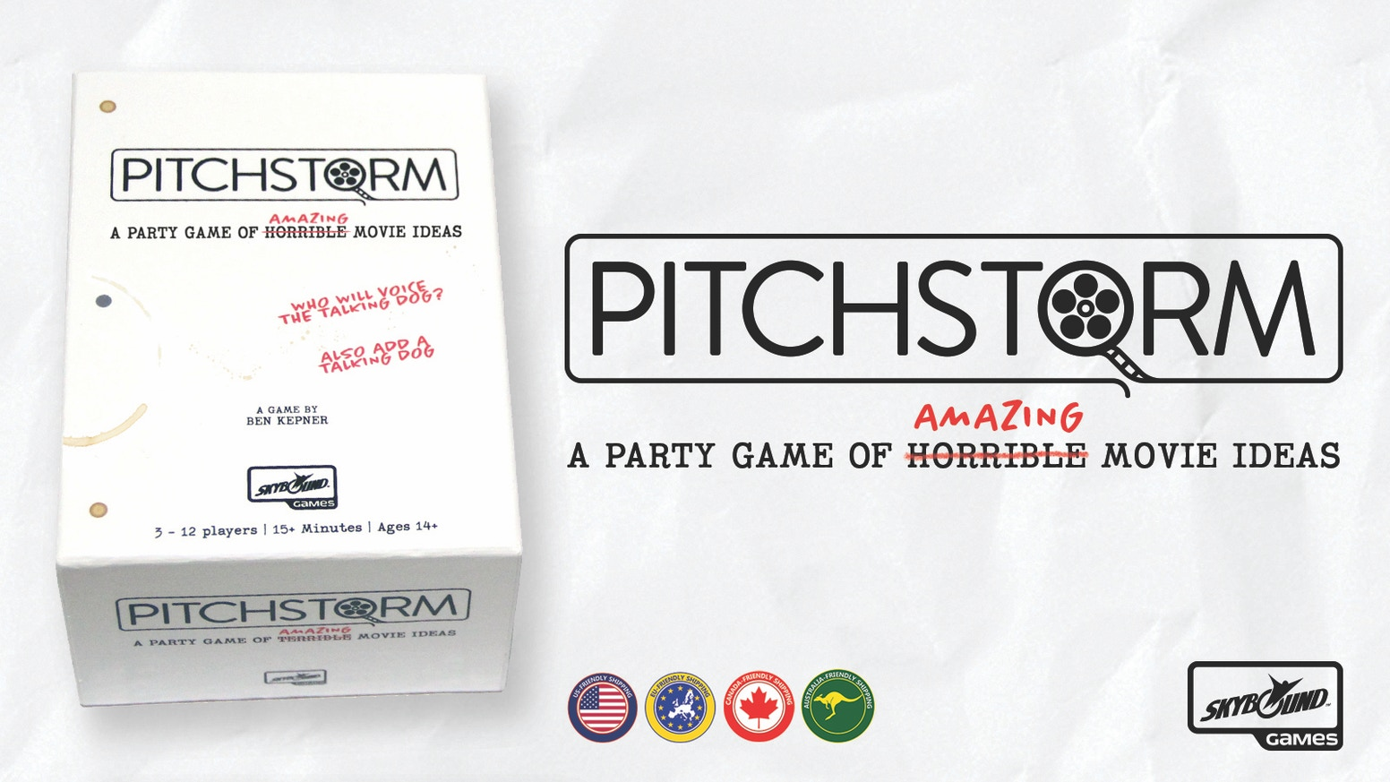 A party card game about pitching movie ideas to the world's worst executives. (AKA your friends)