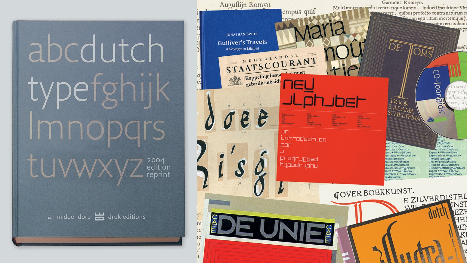 A long-awaited reprint of a modern classic on Dutch type design. Now available, with big thanks to Kickstarter and all backers. See a world-wide list of bookshops at drukeditions.com/#where