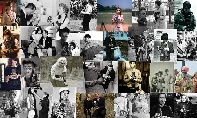 Celebrities and Photographers with Rolleiflex™ Cameras