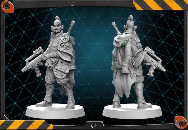 Iemon figure 3D render.