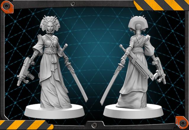 Oiwa figure 3D render.