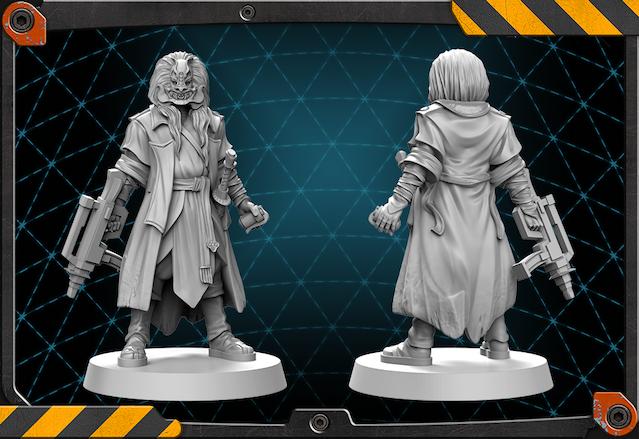 Takuetsu figure 3D render.