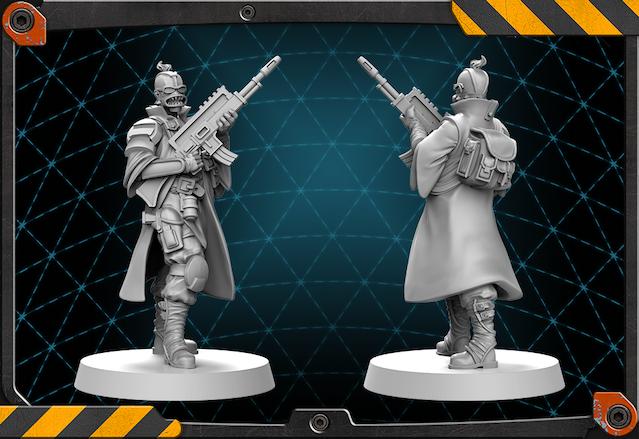 Samon figure 3D render.