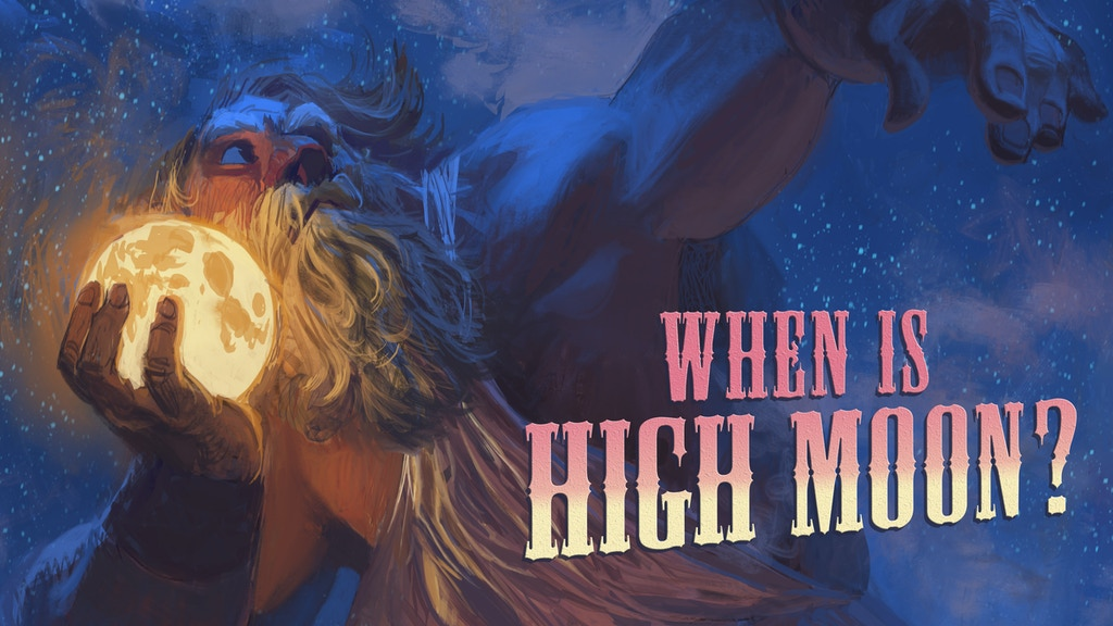 When Is High Moon? project video thumbnail