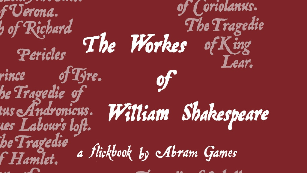 Abram Games - The Shakespeare Project project video thumbnail