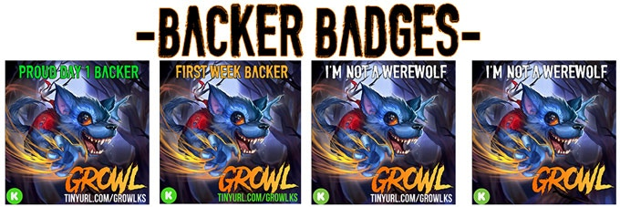 Use a Backer Badge as a badge of honor on social media!