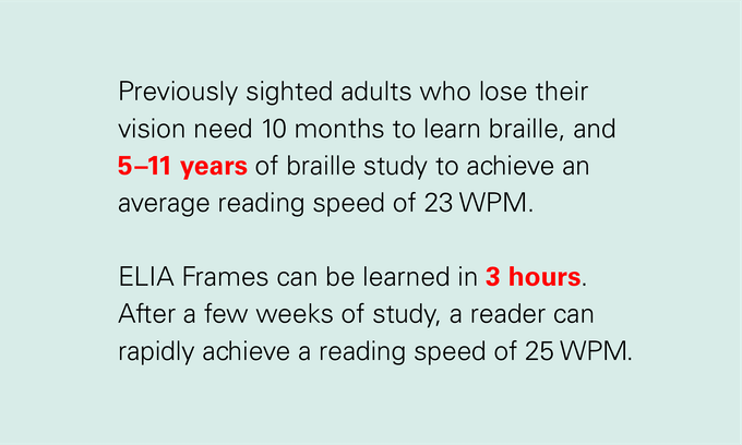 "Source: Braille Reading Rates: ""Reading By Touch"", By Susanna Millar, Routledge Press, 1997"