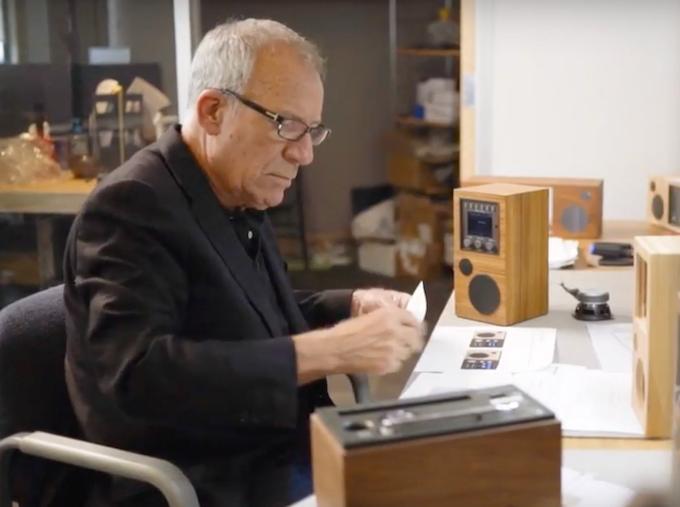 Tom DeVesto reviewing designs at Como Audio in Boston, MA