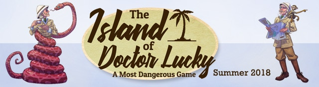 Teaser art from the Island of Doctor Lucky