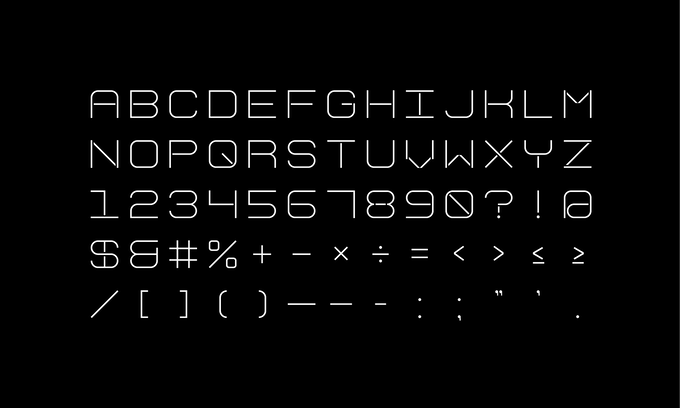 The ELIA Display font, developed by Order.
