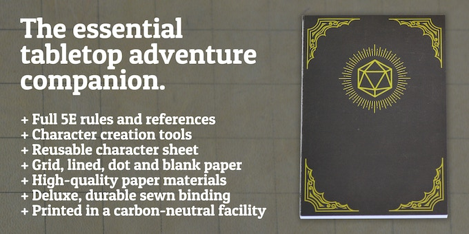 HeroBook - The 5E Player Character Notebook by Material Components