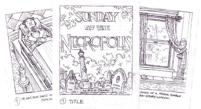 Pencilled pages from the mini comic.