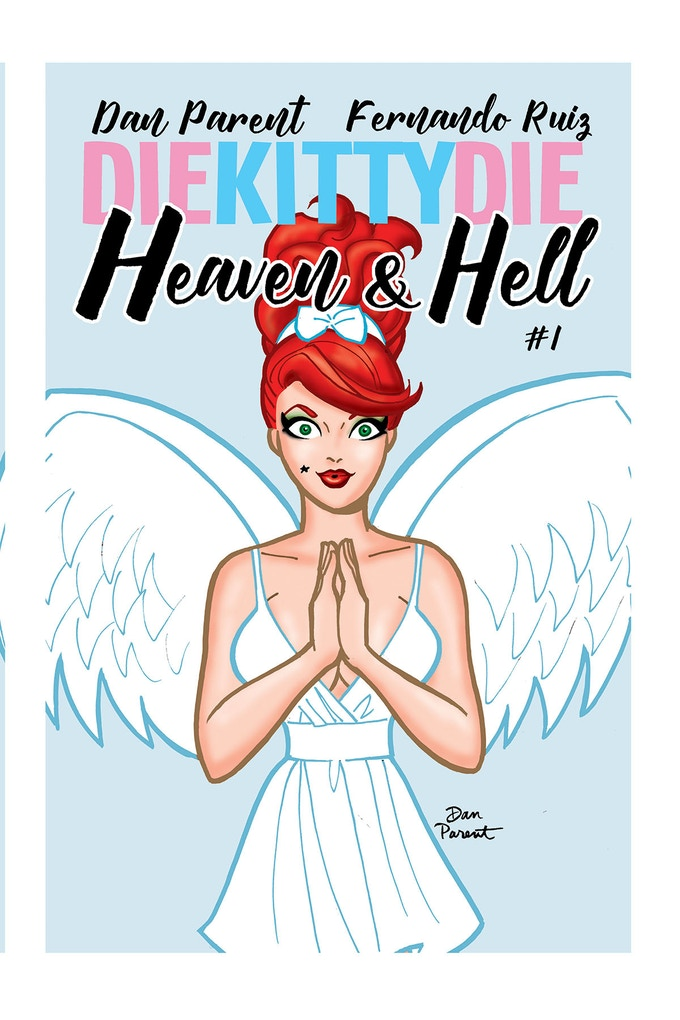 """Dan's """"Angelic"""" cover for issue #1"""
