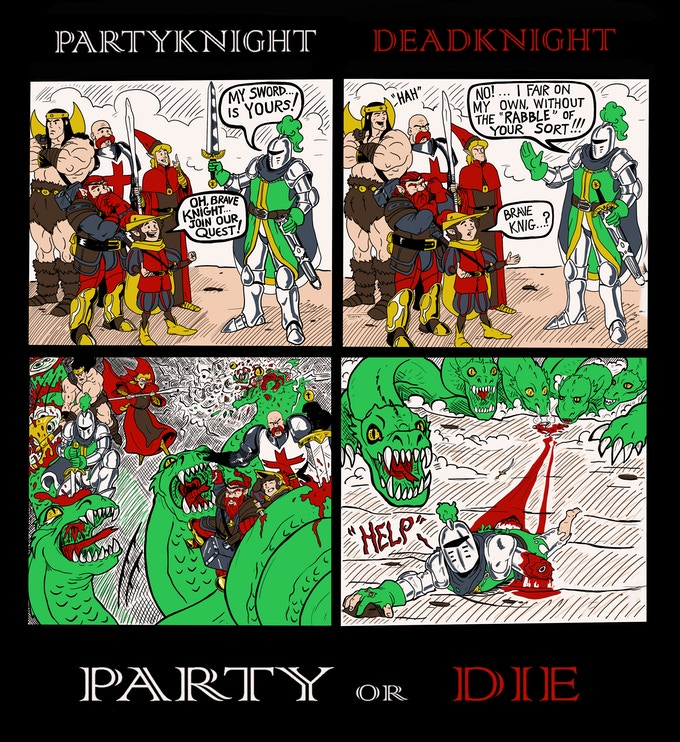 Party Knight Gimmick T-Shirt