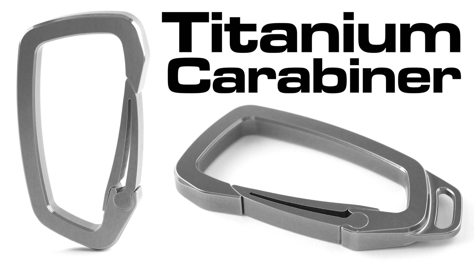 the ultimate titanium carabiner for everyday carry edc use by