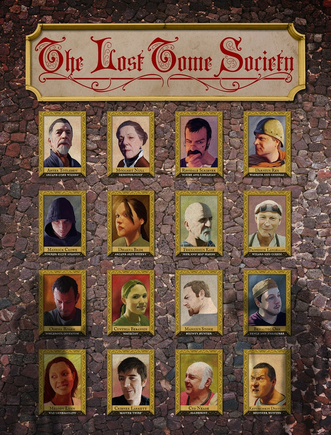 The 16 LOST TOME SOCIETY founding members.