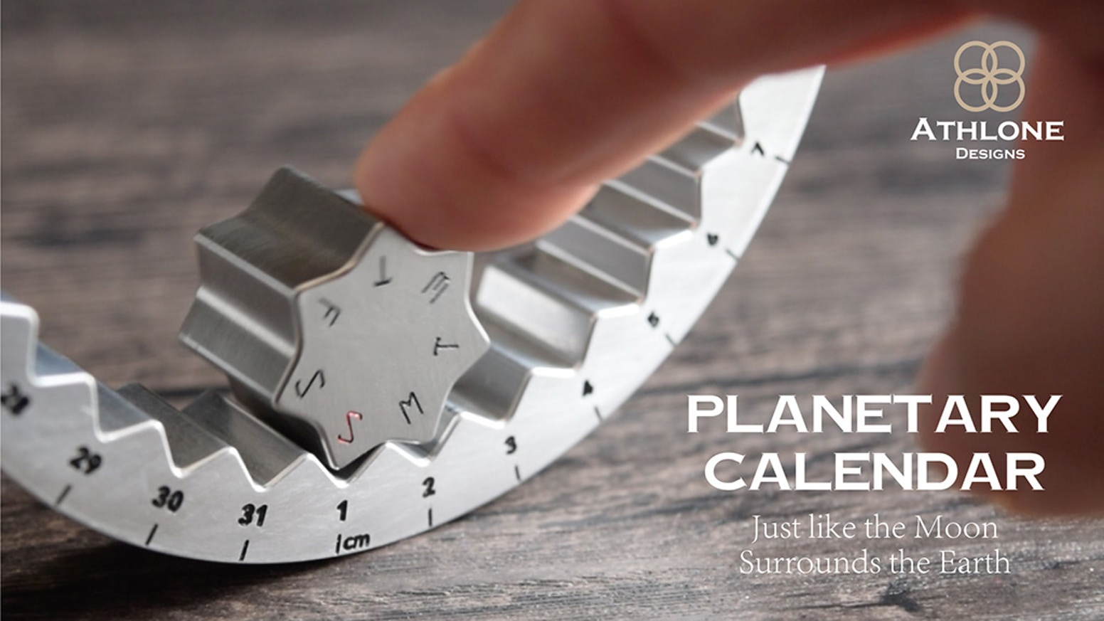 The worlds most innovative calendar: solid Titanium or Aluminum machined with precision. Patent pending design!