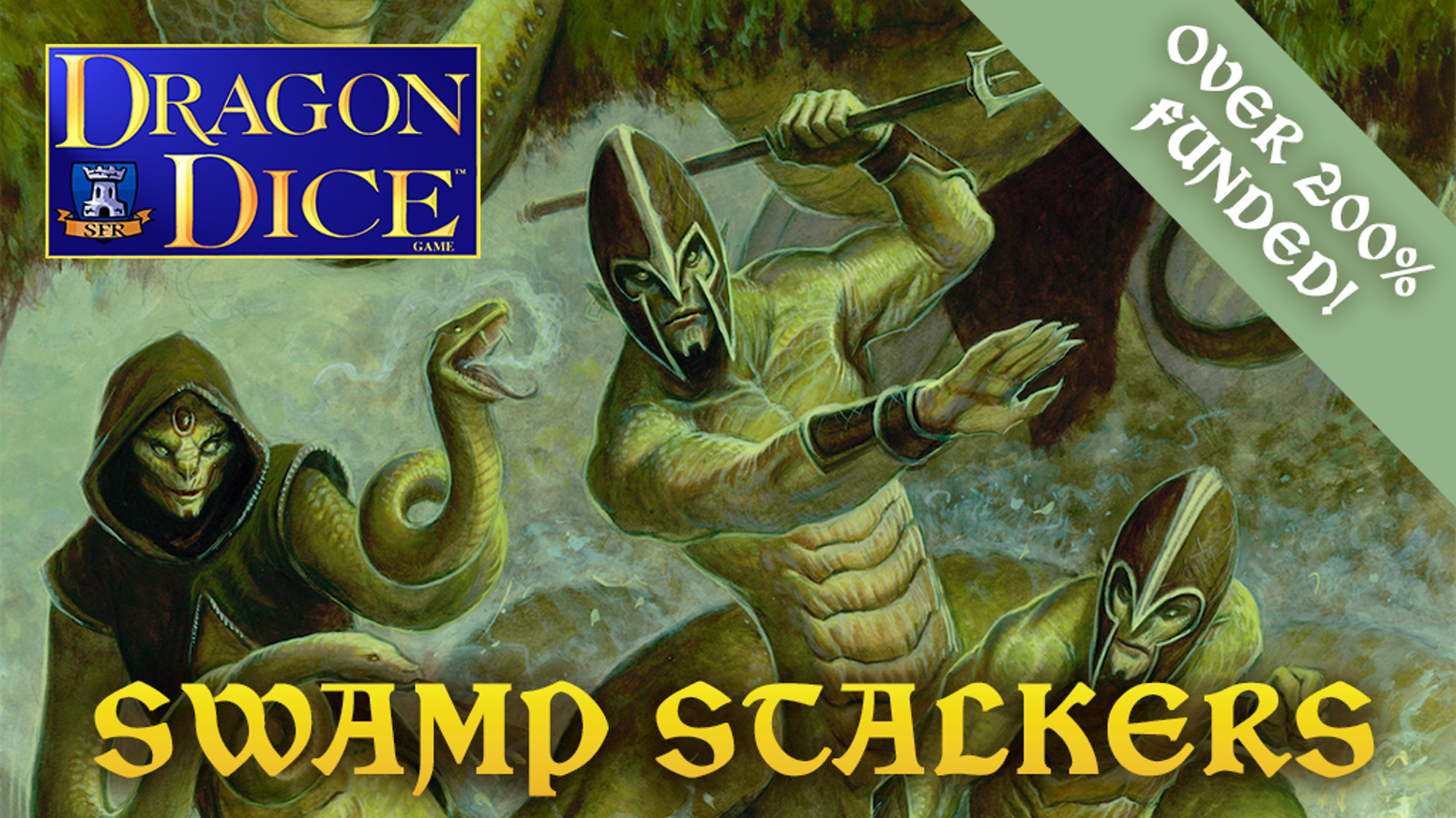 Something stirs in the marshes of Esfah! It is time for the Swamp Stalkers to return to the mighty world of Dragon Dice!
