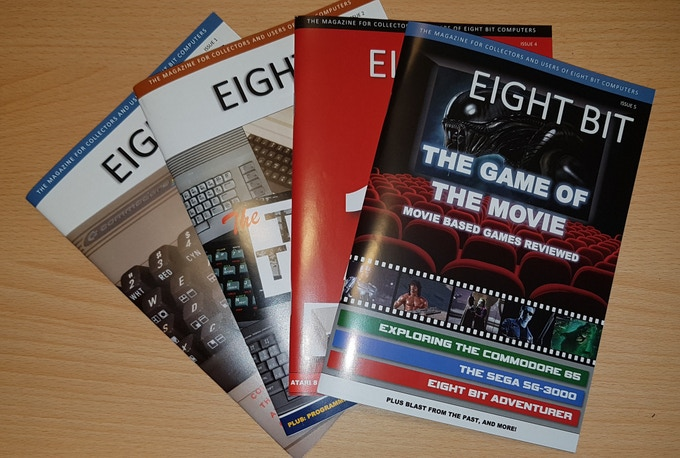 Some of the previous issues of Eight Bit