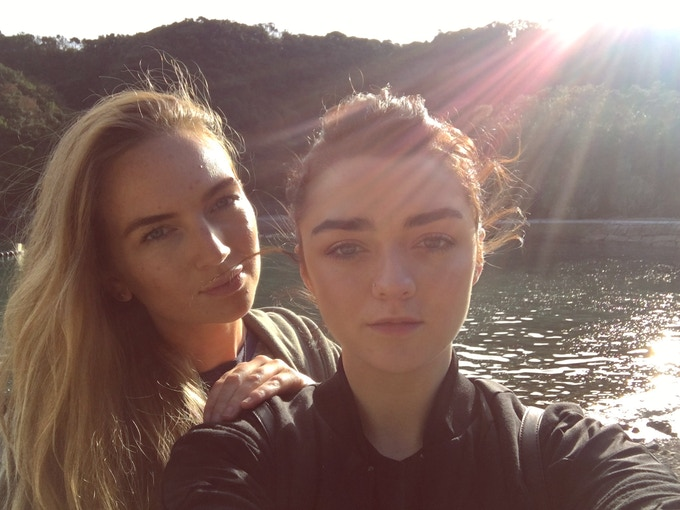 Alex and Maisie together in Taiji, Japan, volunteering as Cove Monitors for 'Dolphin Project' in their campaign against dolphin hunting and capturing.