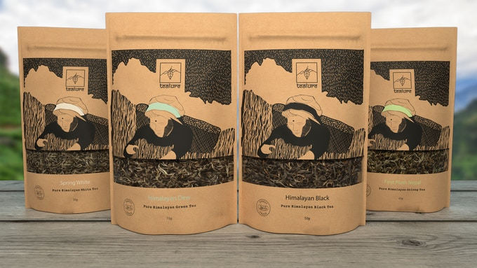 Nepali teas packed in recyclable pouches hitting the shelves this year!