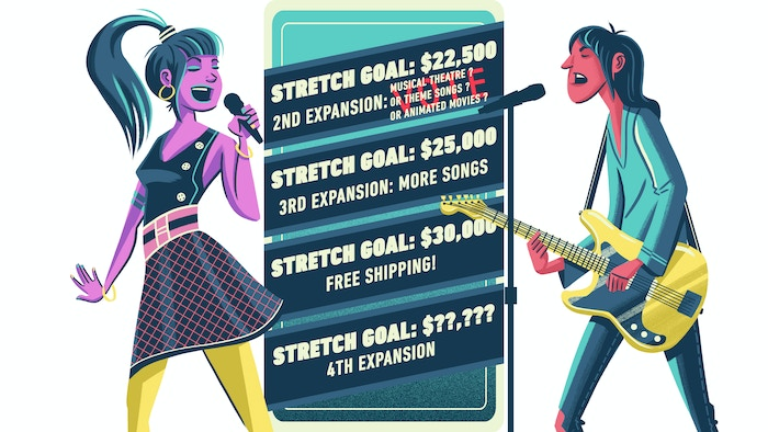 Backers will vote on what the first stretch goal expansion will be.