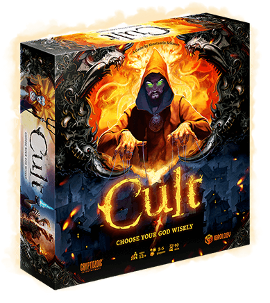An intense board game experience that you will worship ... for eternity!