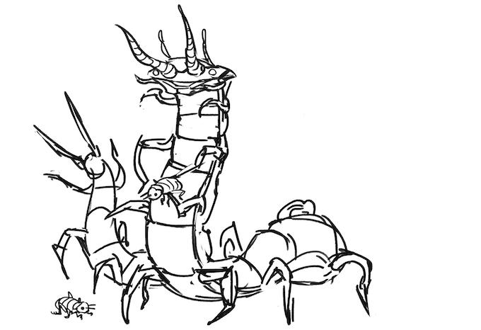Early concept sketch by Kwanchai Moriya