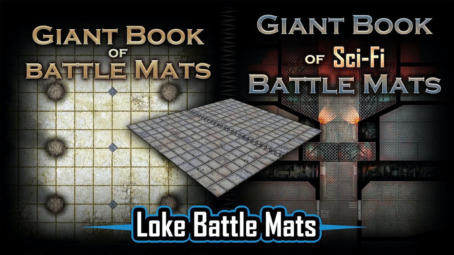Battle Mat Books for Fantasy and Sci-Fi Tabletop RPG Games
