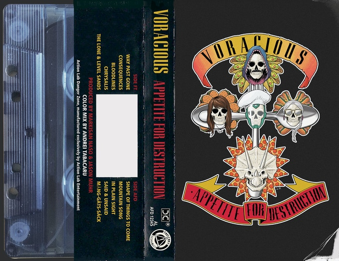 """VORACIOUS: Appetite for Destruction #1 """"GnR"""" Exclusive Edition! 60 pages! Featuring a wraparound homage to the classic album cover!"""