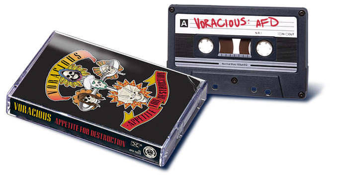 Ultra-limited VORACIOUS cassette! Side A: Interview on Voracious & Top 3 Chicago restaurants! Side B: DVD-style commentary on making VORACIOUS: Appetite for Destruction #1! Plus, an exclusive recipe by CARNIVORE inside!