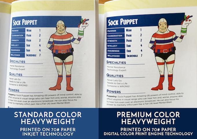 Standard Color VS. Premium Color