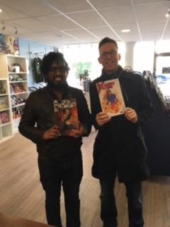 At the comic shop
