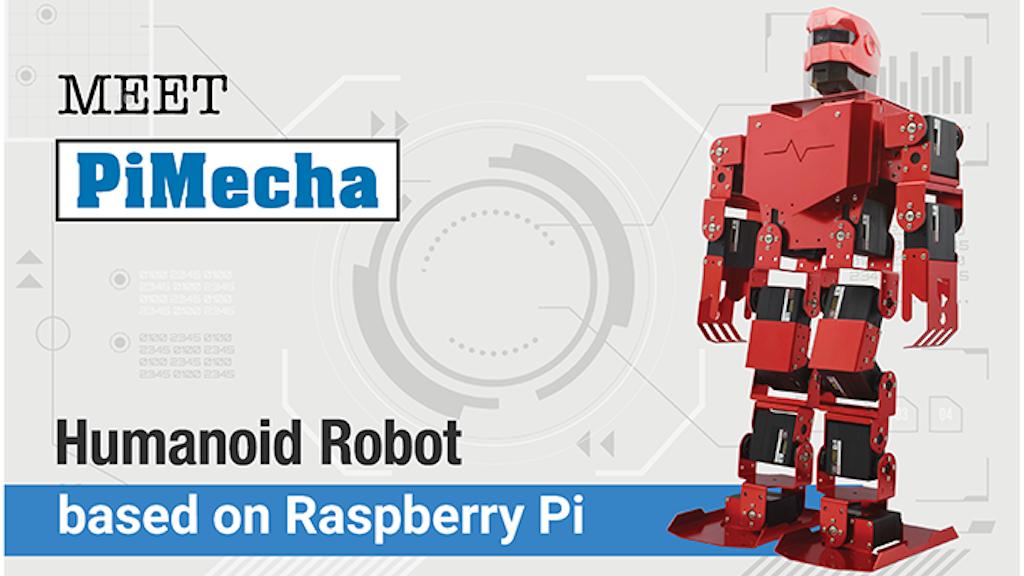PiMecha - Humanoid Robot on Raspberry Pi project video thumbnail