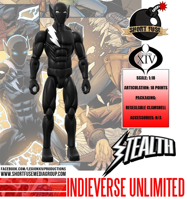 INDIEVERSE UNLIMITED STEALTH ACTION FIGURE