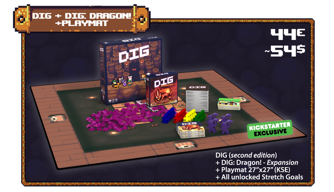DIG (Second Edition) & DIG: DRAGON! expansion by Mangrove
