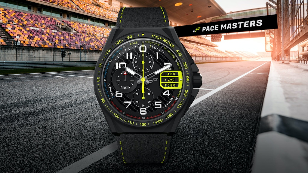 Racing-inspired Chronograph with Carbon fiber and Alcantara