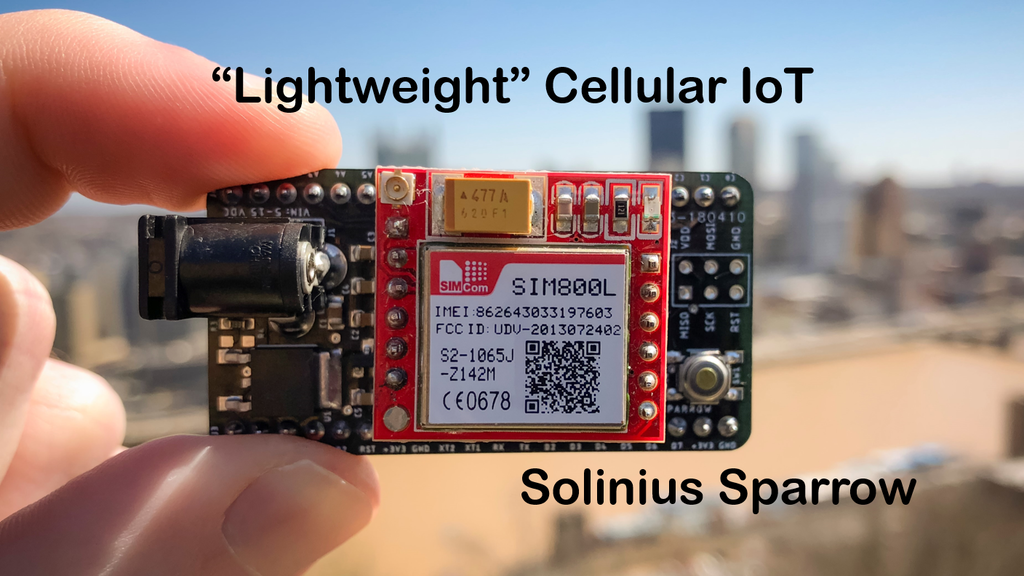 Solinius Sparrow: Cellular IoT with Global Connectivity