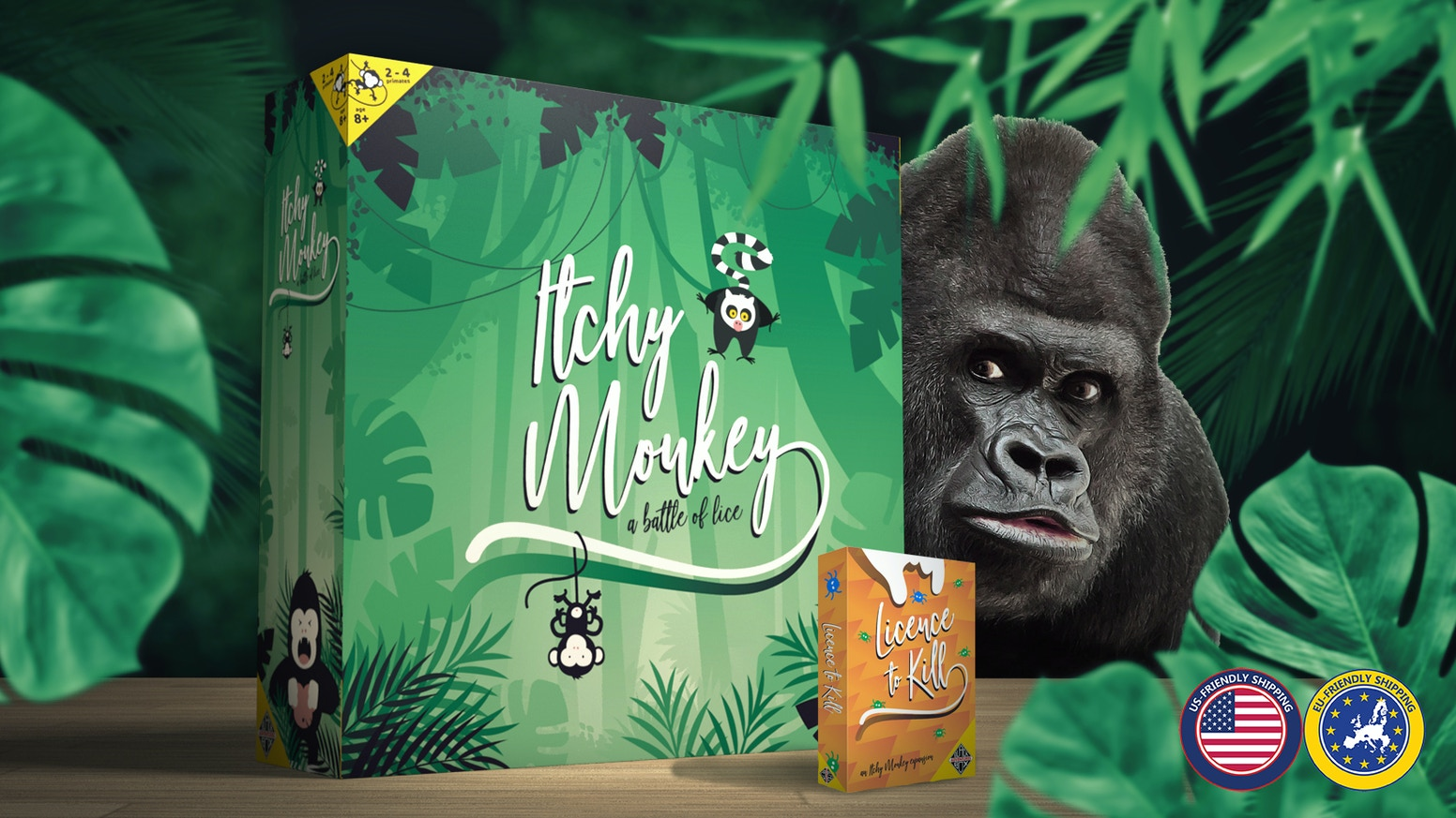 Itchy Monkey: Spawn lice, colonize monkeys and become the real king of the jungle. An easy game to learn, but a hard one to master!