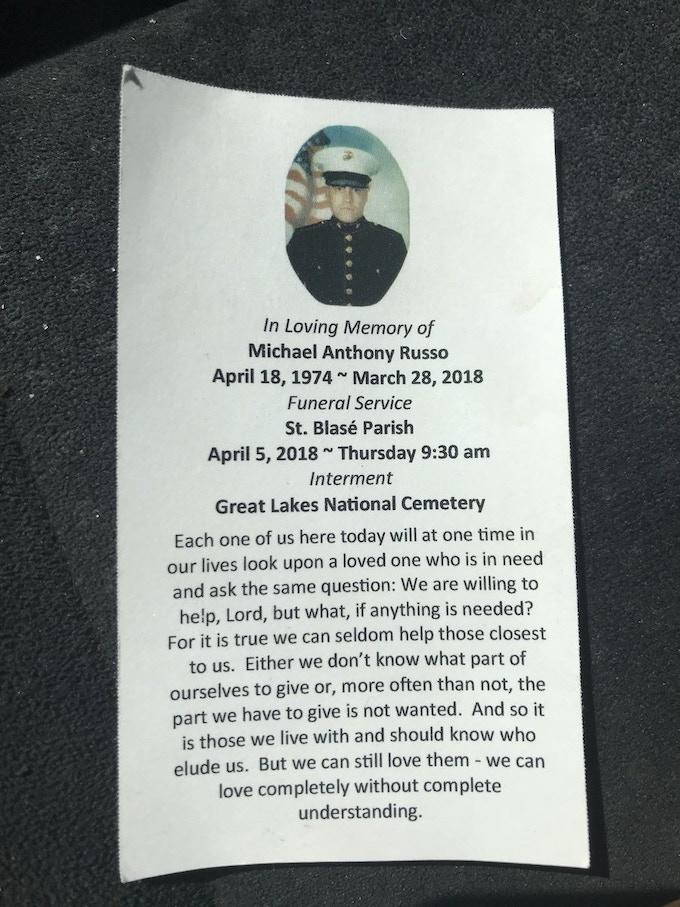 Michael's Prayer Card
