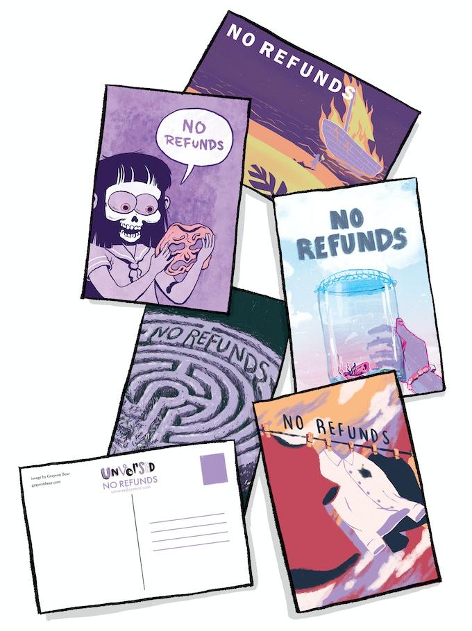 postcards mock up