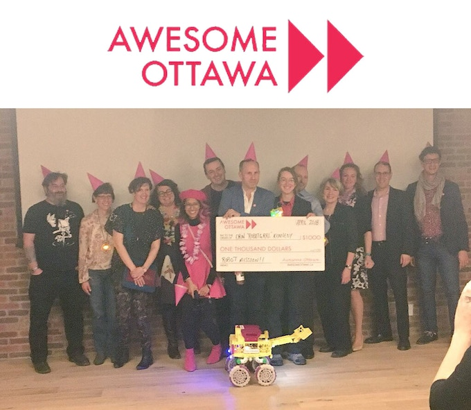Robot Missions was awarded April's Awesome Ottawa grant!