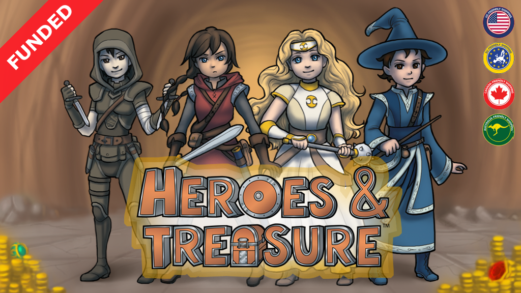 Heroes & Treasure RPG Board Game project video thumbnail