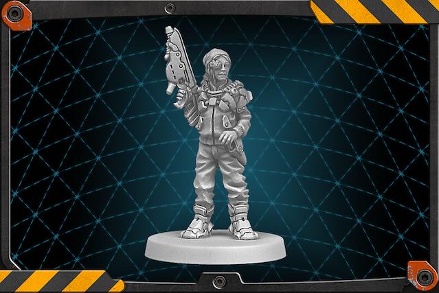 Clops figure 3D render.