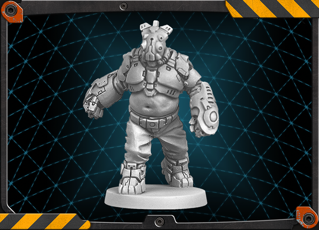 Goliath figure 3D render.