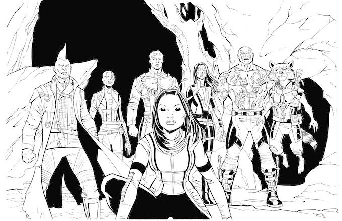 The Guardians Of The Galaxy art reward!